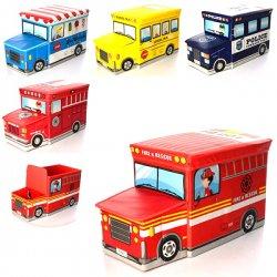Пуф для хранения игрушек АВТОБУС 2968