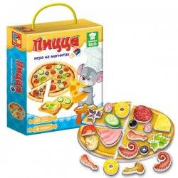 """Игра на магнитах """"Пицца"""" с мышонком 3004-02 Vladi Toys"""