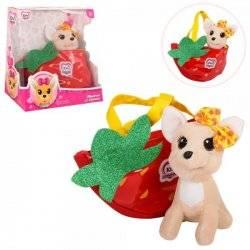 Собачка Кикки в красной сумке M 3699UA