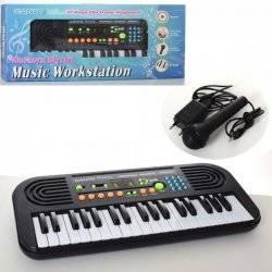 Синтезатор 37 клавиш+ микрофон запись HL3755USB