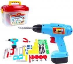 Дрель-шуруповерт детский с набором инструментов в чемодане 4395 Технок
