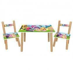 Детский стол и 2 стула  My Little Pony 501-26