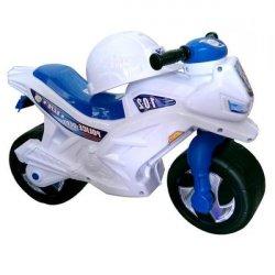 Мотоцикл толокар со шлемом белый Полицейский 501 Орион
