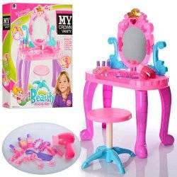 Трюмо для девочек розово-голубое 661-39