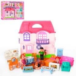 Домик для кукол с фигурками и собачкой 8035