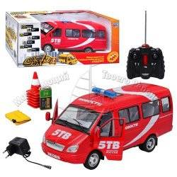 Машинка на радиоуправлении скорая-микроавтобус на аккумуляторах 9129 Joy Toy БОЛЬШАЯ