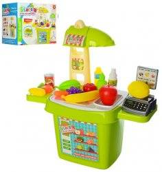 Магазин в чемодане детский с продуктами 922 зеленый
