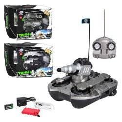 Танк-амфибия радиоуправляемый аккумуляторный Joy Toy 9364 стреляет водой