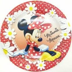 Тарелка праздничная бумажная одноразовая Принцессы или Минни Маус  2021