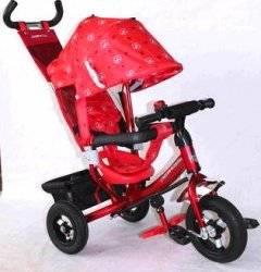 Велосипед Azimut Trike Air с надувными колесами BC-17B красный Baby Club с регулируемой спинкой
