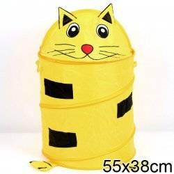 """Корзина для игрушек """"Котенок"""" желтая"""