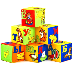 """Кубики мягкие 6 штук ТМ """"Умная игрушка"""", Украина 13134"""