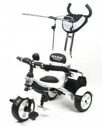 Велосипед Mars Trike KR 01 трехколесный с родительской ручкой черно-белый