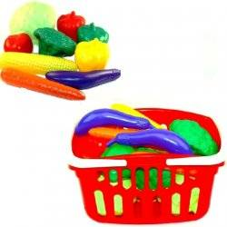 Набор пластиковых овощей в корзинке ИП.18.003