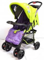 Коляска детская прогулочная с перекидной ручкой Sigma S-K-6 фиолетово-салатовая НОВИНКА!!