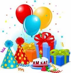 Товары для детского праздника: надувные шарики, свечи, свистульки
