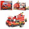 Конструктор Пожарная машина и пожарная часть 2 в 1 M38-B0220